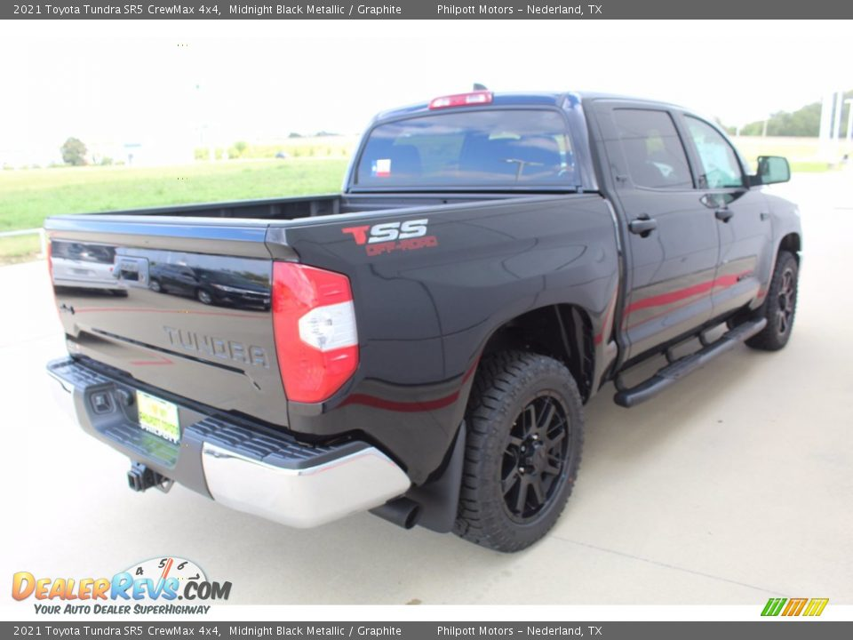 2021 Toyota Tundra SR5 CrewMax 4x4 Midnight Black Metallic / Graphite Photo #8