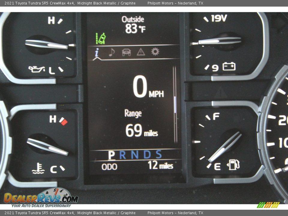 2021 Toyota Tundra SR5 CrewMax 4x4 Midnight Black Metallic / Graphite Photo #14