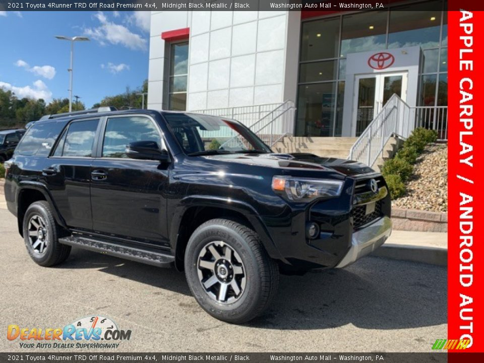 2021 Toyota 4Runner TRD Off Road Premium 4x4 Midnight Black Metallic / Black Photo #1