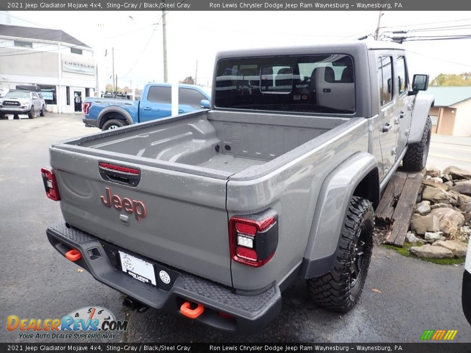 2021 Jeep Gladiator Mojave 4x4 Sting-Gray / Black/Steel Gray Photo #5