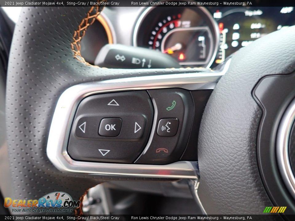 2021 Jeep Gladiator Mojave 4x4 Steering Wheel Photo #20