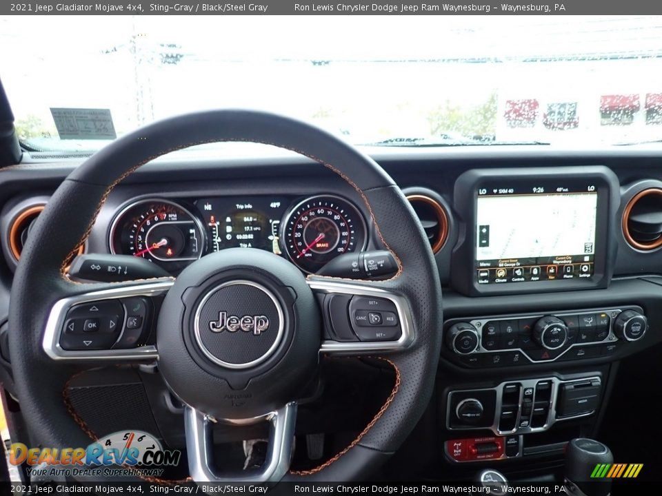 Dashboard of 2021 Jeep Gladiator Mojave 4x4 Photo #23