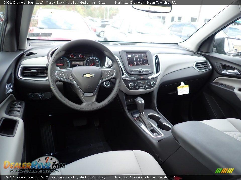 Medium Ash Gray Interior - 2021 Chevrolet Equinox LS Photo #13