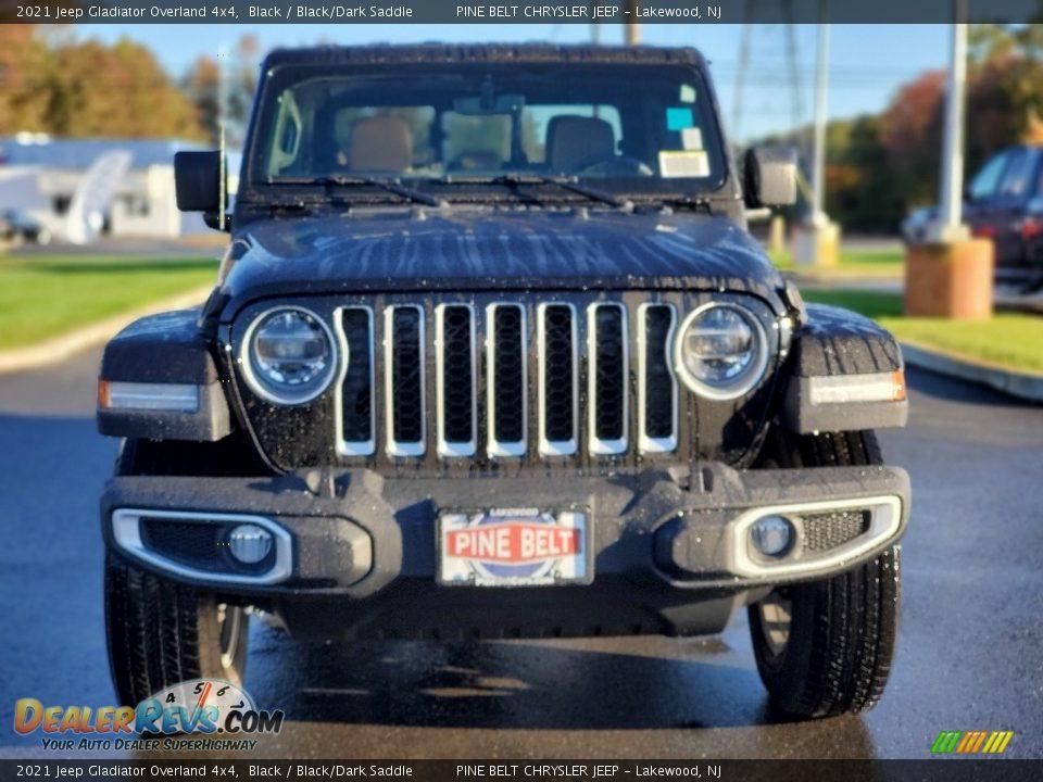 2021 Jeep Gladiator Overland 4x4 Black / Black/Dark Saddle Photo #3