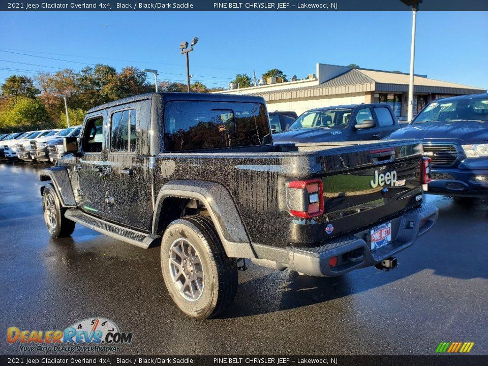 2021 Jeep Gladiator Overland 4x4 Black / Black/Dark Saddle Photo #6