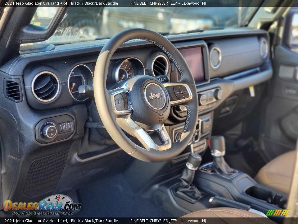 2021 Jeep Gladiator Overland 4x4 Black / Black/Dark Saddle Photo #12
