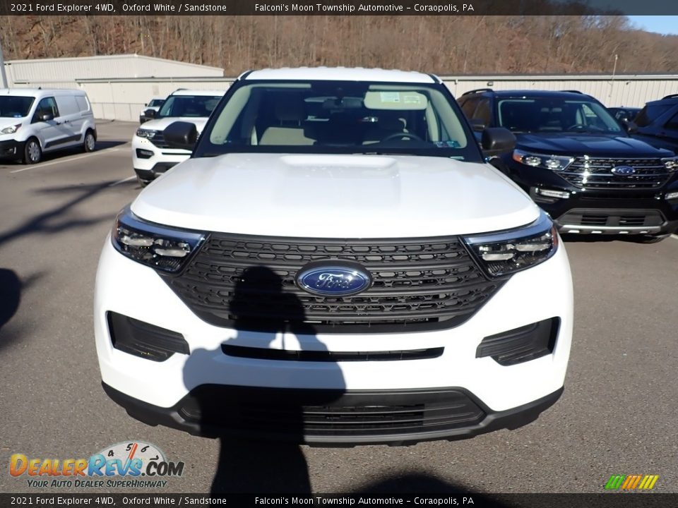 2021 Ford Explorer 4WD Oxford White / Sandstone Photo #4