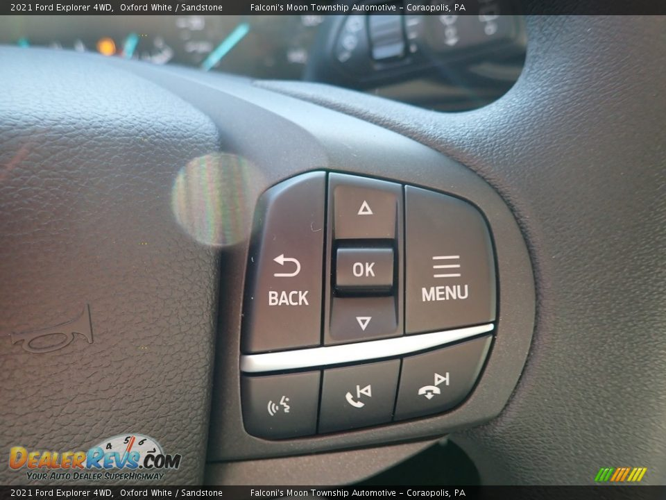 2021 Ford Explorer 4WD Oxford White / Sandstone Photo #14