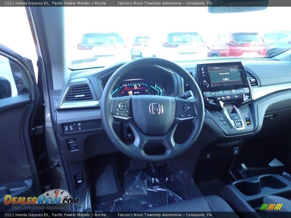 2021 Honda Odyssey EX Pacific Pewter Metallic / Mocha Photo #10
