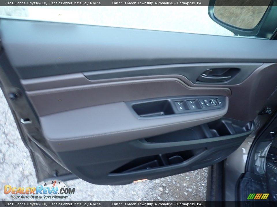 2021 Honda Odyssey EX Pacific Pewter Metallic / Mocha Photo #11