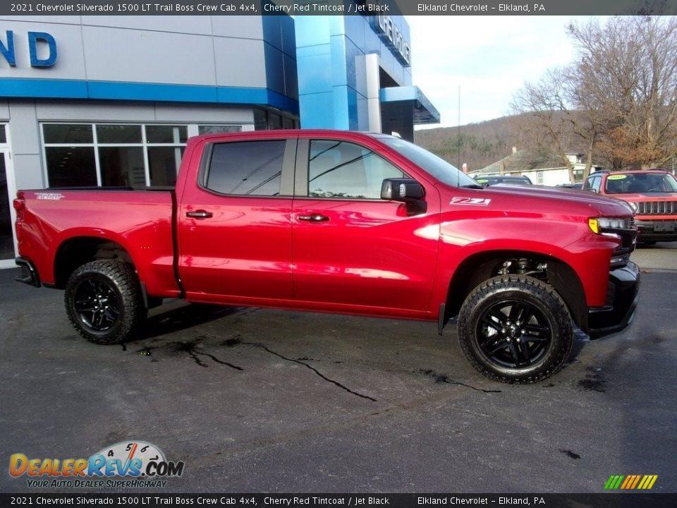 2021 Chevrolet Silverado 1500 LT Trail Boss Crew Cab 4x4 Cherry Red Tintcoat / Jet Black Photo #1