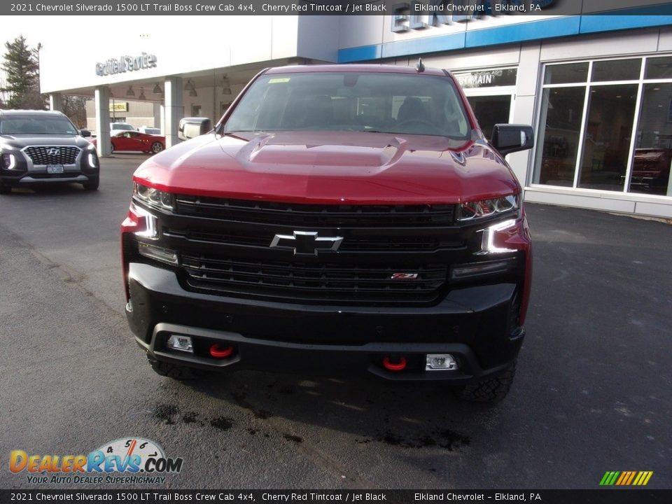 2021 Chevrolet Silverado 1500 LT Trail Boss Crew Cab 4x4 Cherry Red Tintcoat / Jet Black Photo #7