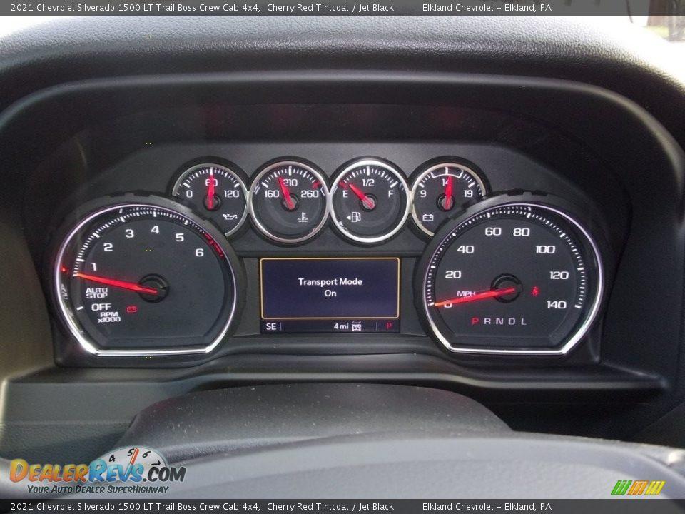 2021 Chevrolet Silverado 1500 LT Trail Boss Crew Cab 4x4 Cherry Red Tintcoat / Jet Black Photo #19