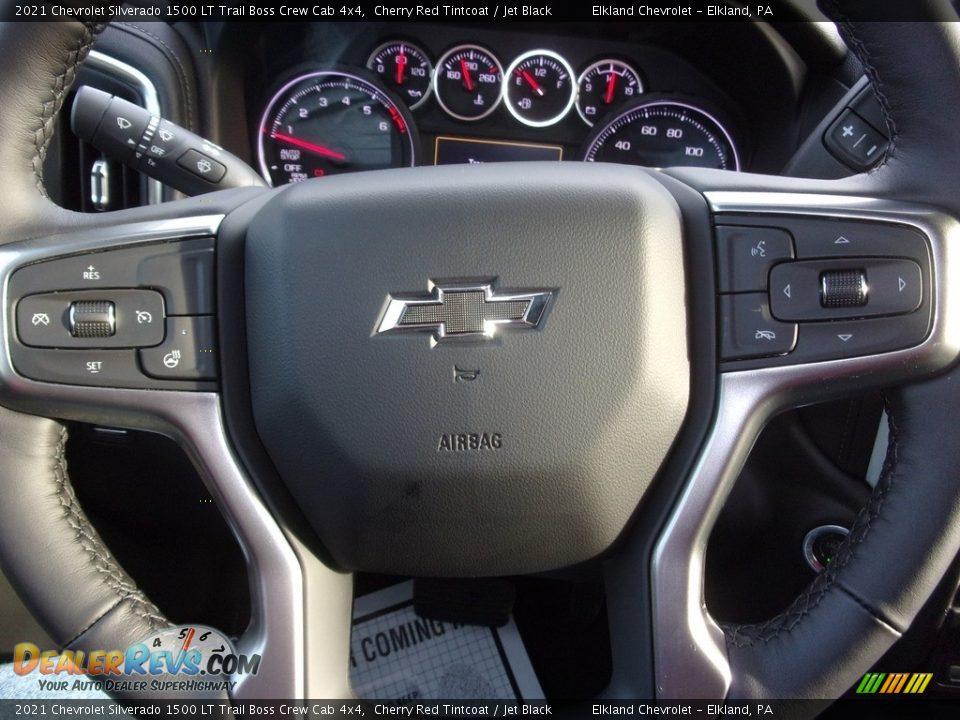 2021 Chevrolet Silverado 1500 LT Trail Boss Crew Cab 4x4 Cherry Red Tintcoat / Jet Black Photo #20