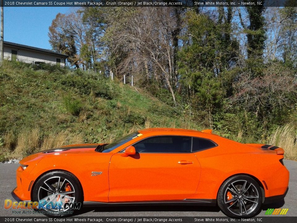 2018 Chevrolet Camaro SS Coupe Hot Wheels Package Crush (Orange) / Jet Black/Orange Accents Photo #1