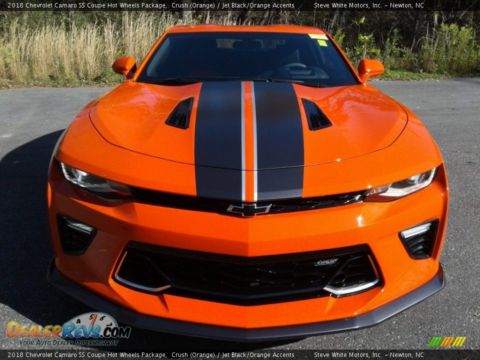 2018 Chevrolet Camaro SS Coupe Hot Wheels Package Crush (Orange) / Jet Black/Orange Accents Photo #5