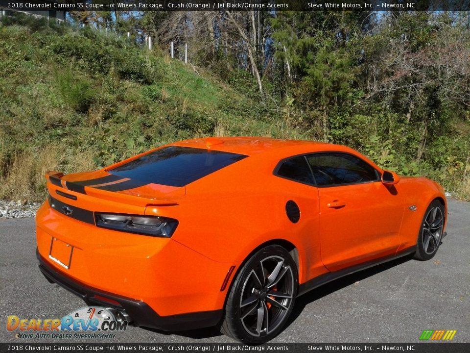 2018 Chevrolet Camaro SS Coupe Hot Wheels Package Crush (Orange) / Jet Black/Orange Accents Photo #8