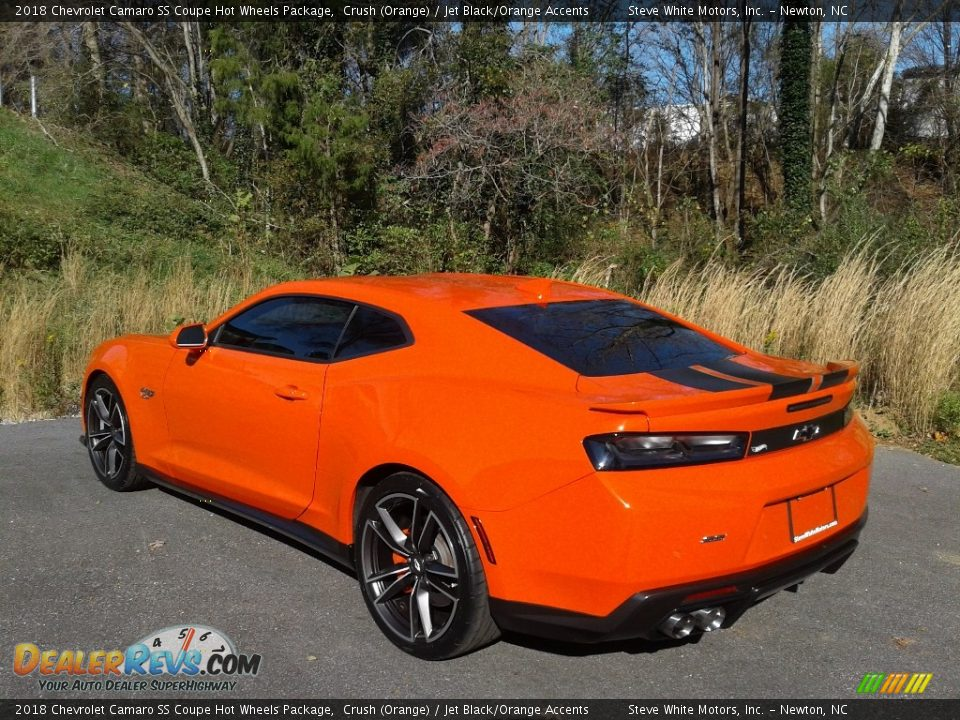 2018 Chevrolet Camaro SS Coupe Hot Wheels Package Crush (Orange) / Jet Black/Orange Accents Photo #10