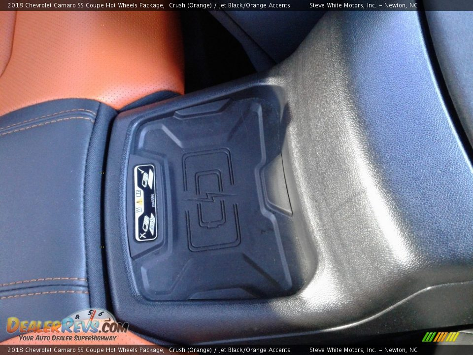 2018 Chevrolet Camaro SS Coupe Hot Wheels Package Crush (Orange) / Jet Black/Orange Accents Photo #18