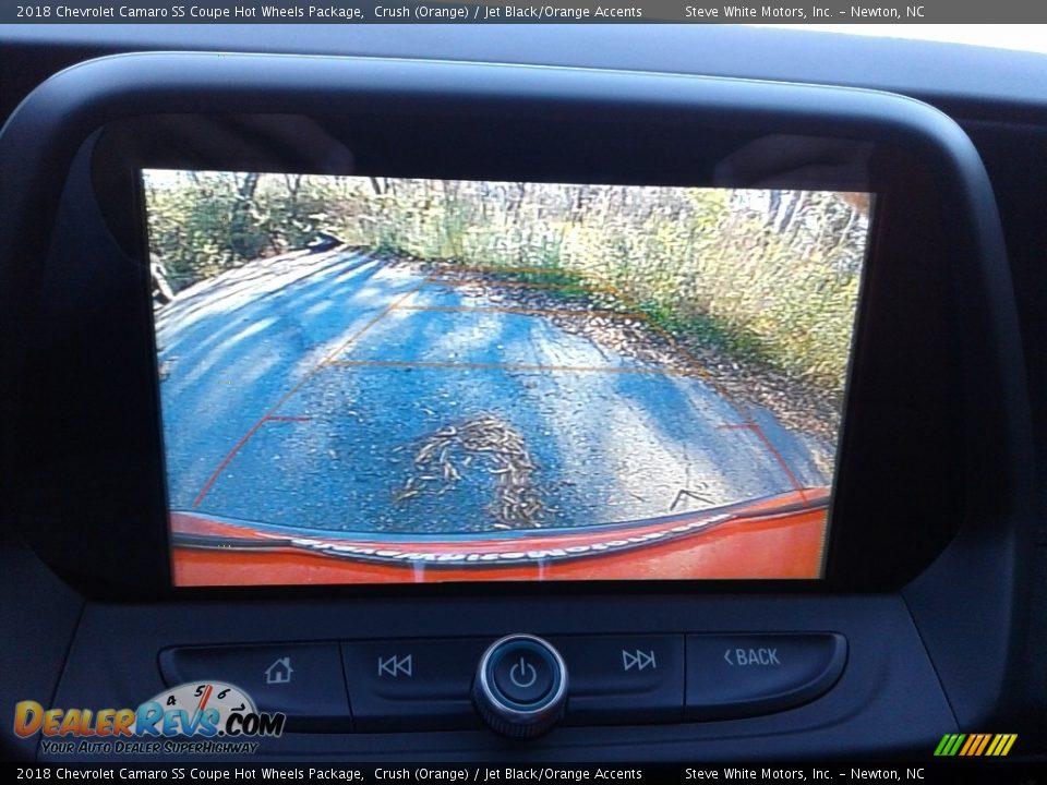 2018 Chevrolet Camaro SS Coupe Hot Wheels Package Crush (Orange) / Jet Black/Orange Accents Photo #24