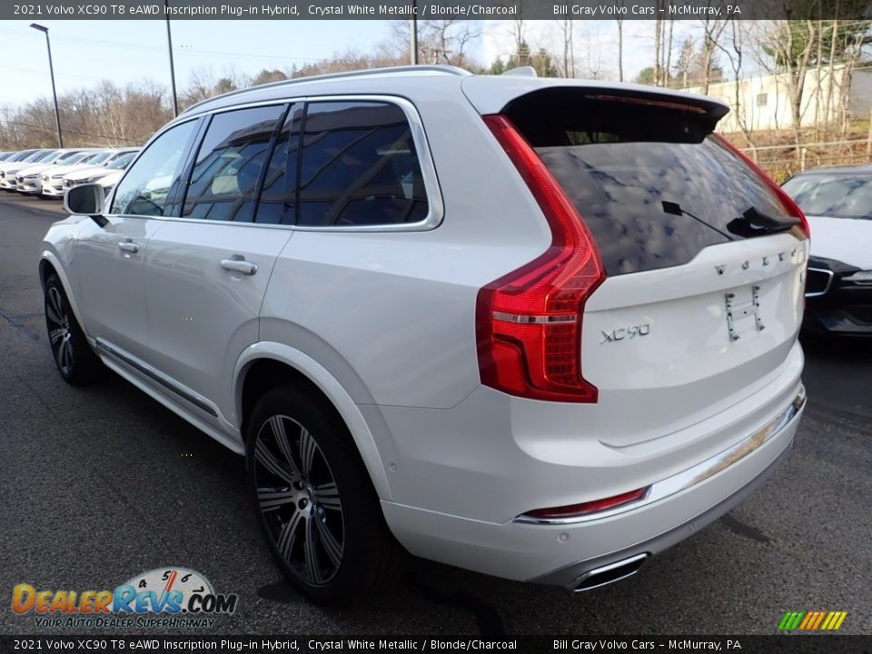 2021 Volvo XC90 T8 eAWD Inscription Plug-in Hybrid Crystal White Metallic / Blonde/Charcoal Photo #4