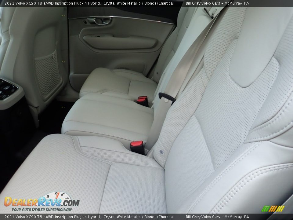 Rear Seat of 2021 Volvo XC90 T8 eAWD Inscription Plug-in Hybrid Photo #8