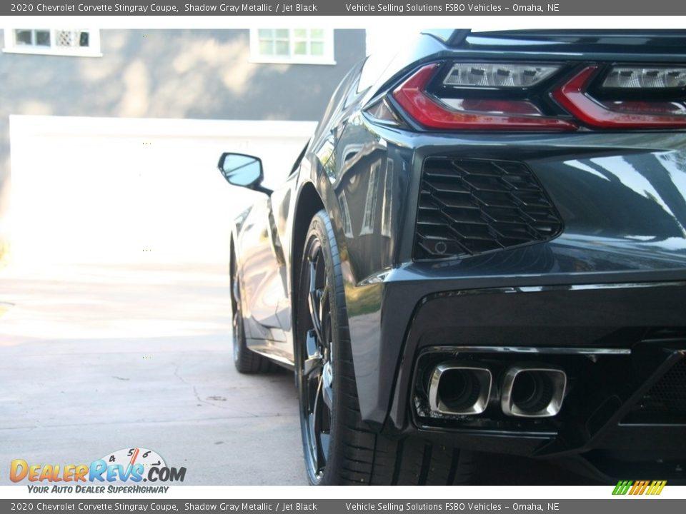 2020 Chevrolet Corvette Stingray Coupe Shadow Gray Metallic / Jet Black Photo #24
