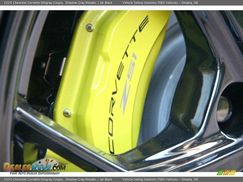 2020 Chevrolet Corvette Stingray Coupe Shadow Gray Metallic / Jet Black Photo #31