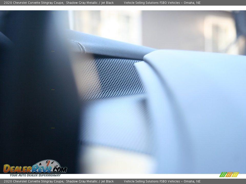 2020 Chevrolet Corvette Stingray Coupe Shadow Gray Metallic / Jet Black Photo #36
