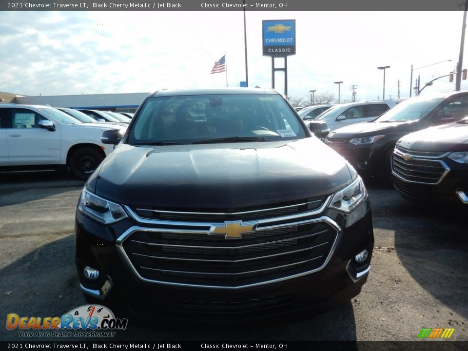 2021 Chevrolet Traverse LT Black Cherry Metallic / Jet Black Photo #2