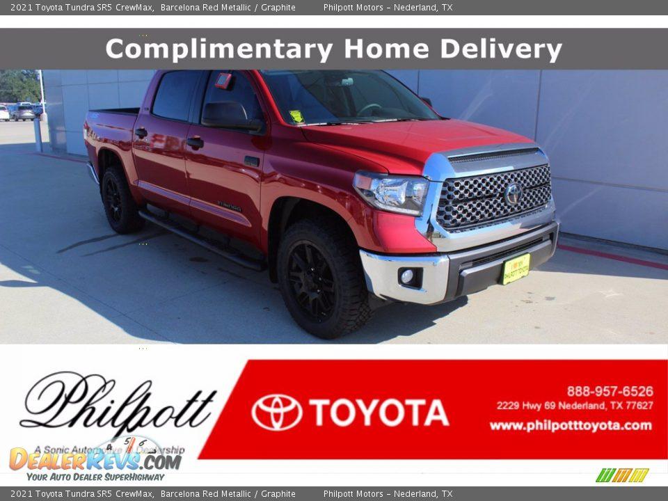 2021 Toyota Tundra SR5 Double Cab Barcelona Red Metallic / Graphite Photo #1