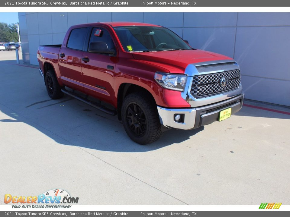 2021 Toyota Tundra SR5 Double Cab Barcelona Red Metallic / Graphite Photo #2