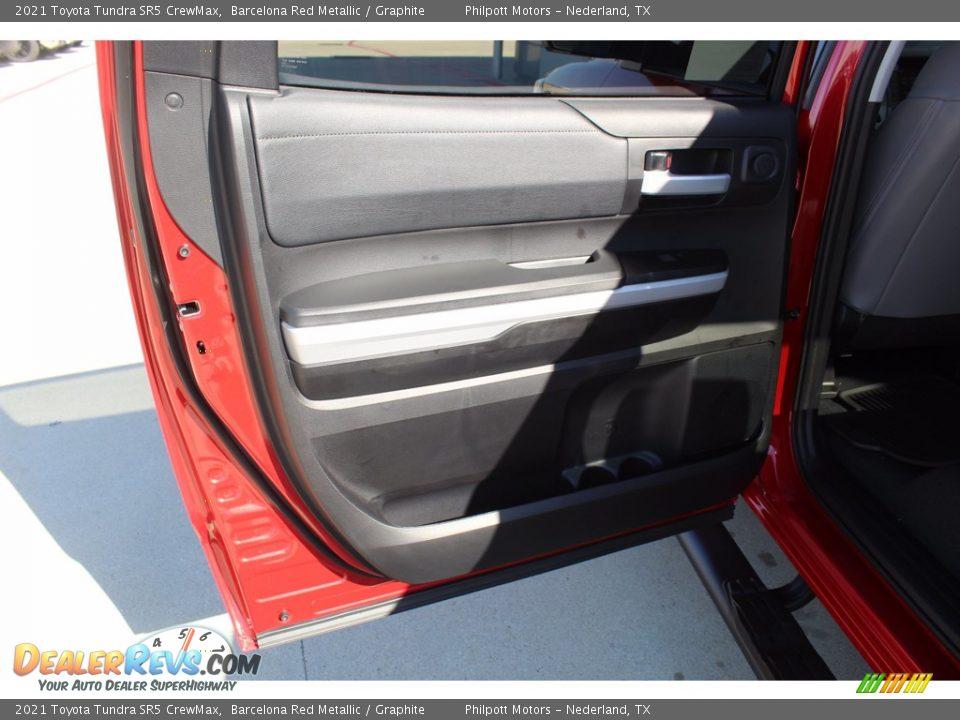 2021 Toyota Tundra SR5 Double Cab Barcelona Red Metallic / Graphite Photo #18