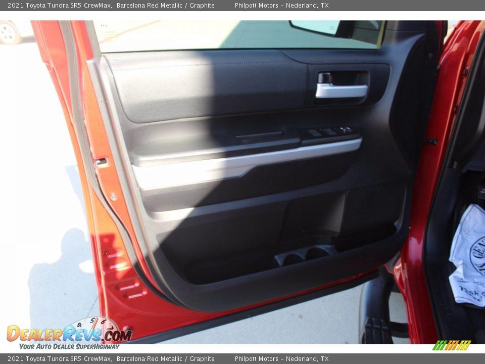 2021 Toyota Tundra SR5 CrewMax Barcelona Red Metallic / Graphite Photo #9