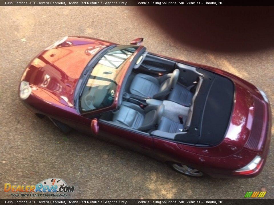 1999 Porsche 911 Carrera Cabriolet Arena Red Metallic / Graphite Grey Photo #8