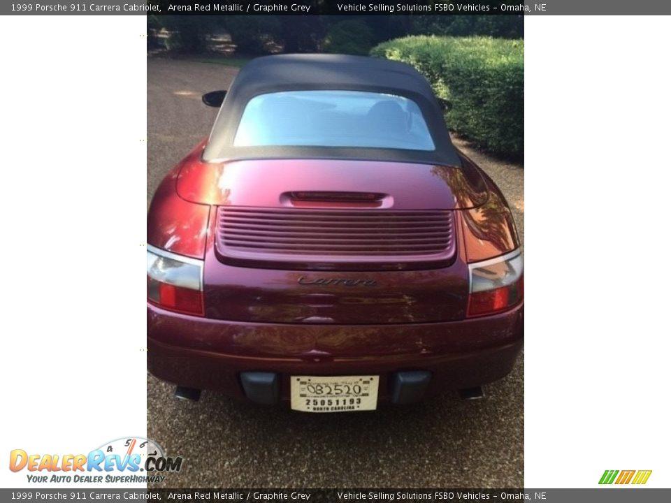 1999 Porsche 911 Carrera Cabriolet Arena Red Metallic / Graphite Grey Photo #10