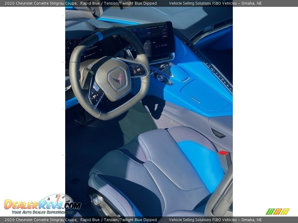 2020 Chevrolet Corvette Stingray Coupe Rapid Blue / Tension/Twilight Blue Dipped Photo #4