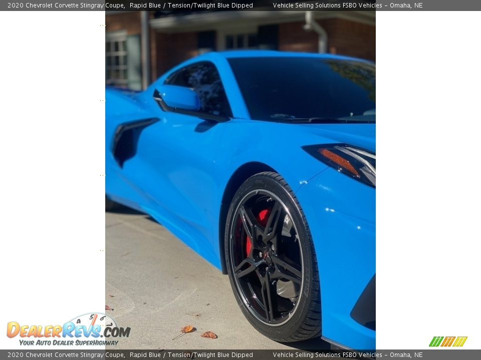 2020 Chevrolet Corvette Stingray Coupe Rapid Blue / Tension/Twilight Blue Dipped Photo #9