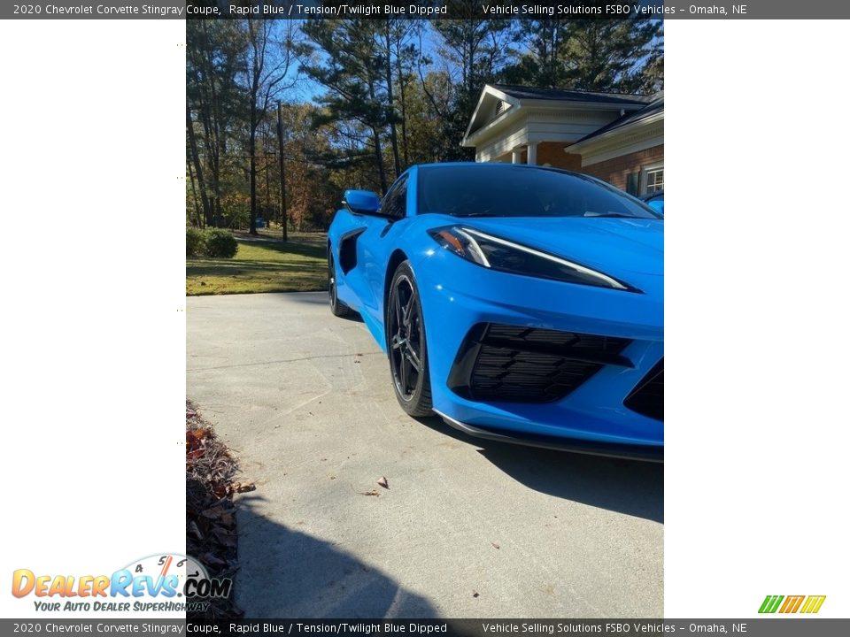 2020 Chevrolet Corvette Stingray Coupe Rapid Blue / Tension/Twilight Blue Dipped Photo #10
