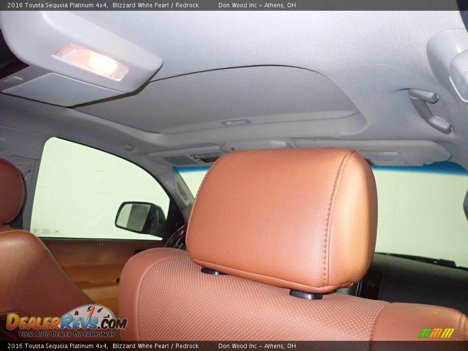 2016 Toyota Sequoia Platinum 4x4 Blizzard White Pearl / Redrock Photo #2