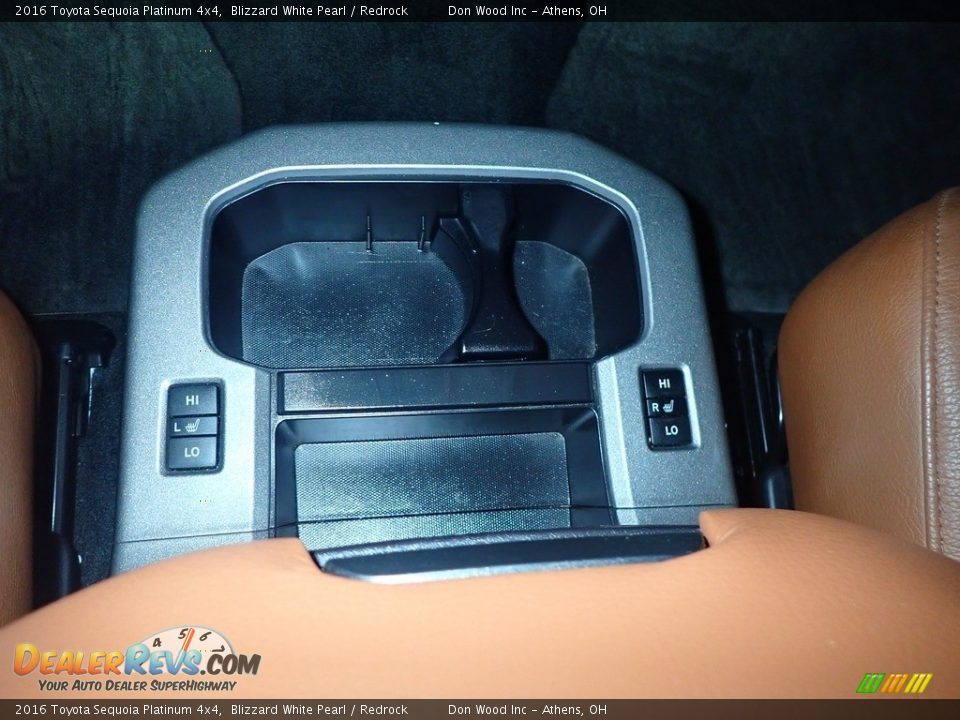 2016 Toyota Sequoia Platinum 4x4 Blizzard White Pearl / Redrock Photo #5