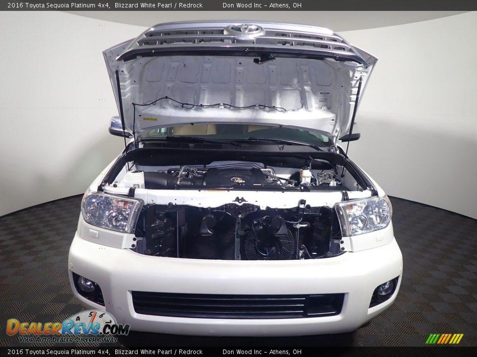 2016 Toyota Sequoia Platinum 4x4 Blizzard White Pearl / Redrock Photo #11