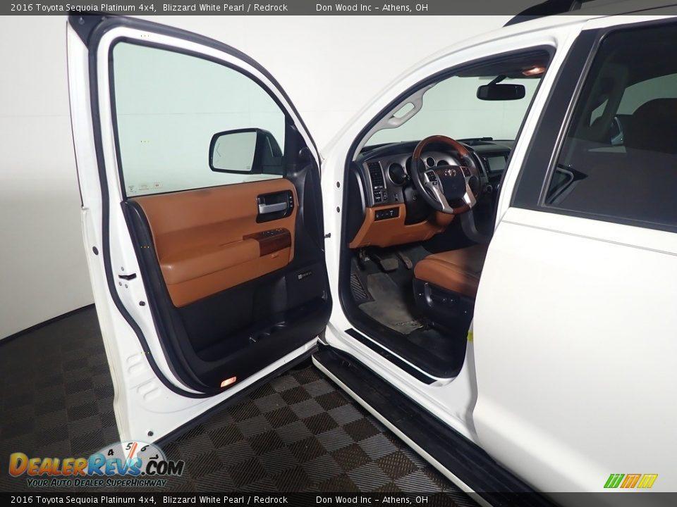 2016 Toyota Sequoia Platinum 4x4 Blizzard White Pearl / Redrock Photo #27