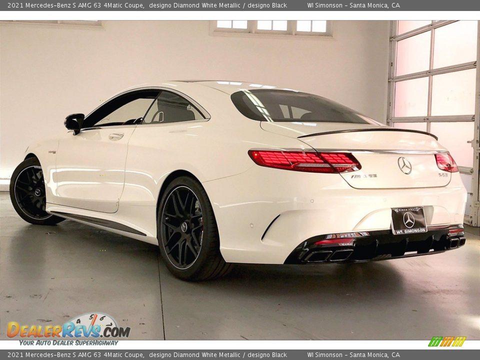 2021 Mercedes-Benz S AMG 63 4Matic Coupe designo Diamond White Metallic / designo Black Photo #2
