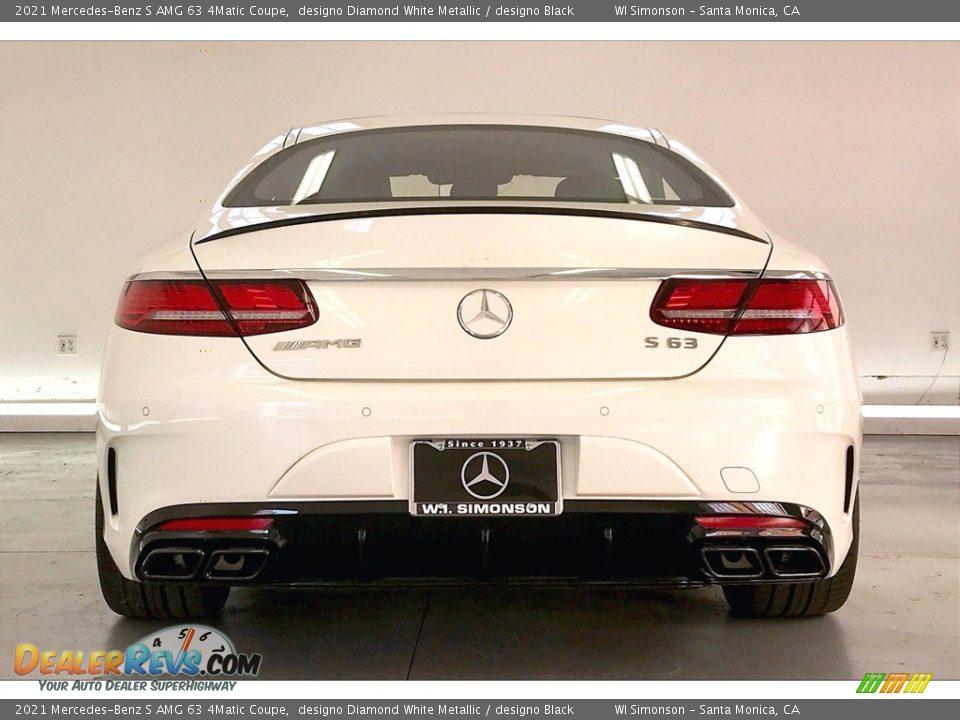 2021 Mercedes-Benz S AMG 63 4Matic Coupe designo Diamond White Metallic / designo Black Photo #3
