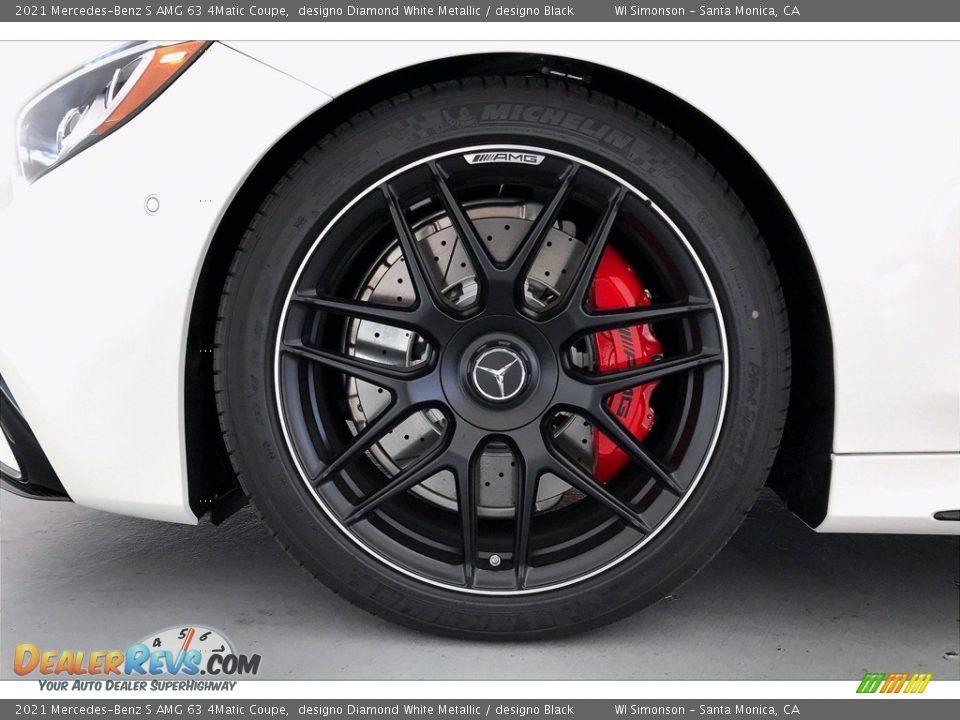 2021 Mercedes-Benz S AMG 63 4Matic Coupe designo Diamond White Metallic / designo Black Photo #9