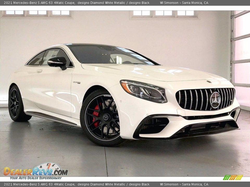 2021 Mercedes-Benz S AMG 63 4Matic Coupe designo Diamond White Metallic / designo Black Photo #12
