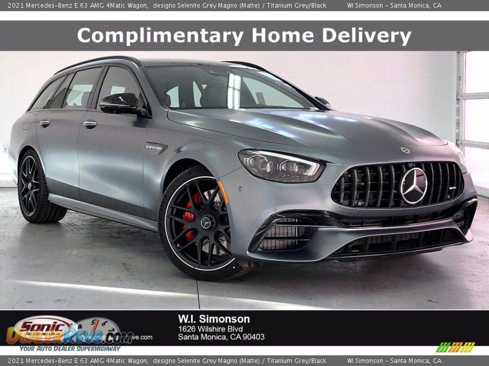 2021 Mercedes-Benz E 63 AMG 4Matic Wagon designo Selenite Grey Magno (Matte) / Titanium Grey/Black Photo #1