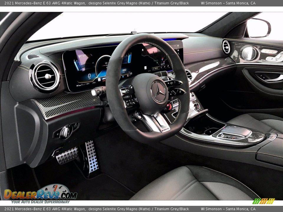 Titanium Grey/Black Interior - 2021 Mercedes-Benz E 63 AMG 4Matic Wagon Photo #4
