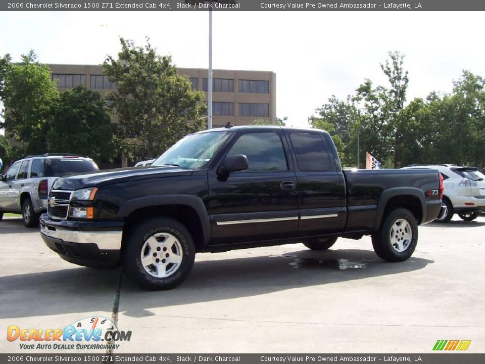 2006 chevrolet silverado 1500 z71 extended cab 4x4 black dark charcoal photo 1. Black Bedroom Furniture Sets. Home Design Ideas